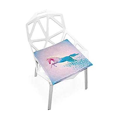 Bardic HNTGHX Outdoor/Indoor Chair Cushion Geometric Unicorn Horse Square Memory Foam Seat Pads Cushion for Patio Dining, 16