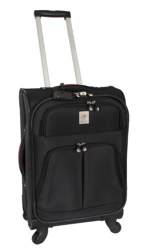 Shanghai Airlines (Jenni Chan Shanghai Collection 21 Inch 360 Quattro Upright Spinner, Black, One Size)