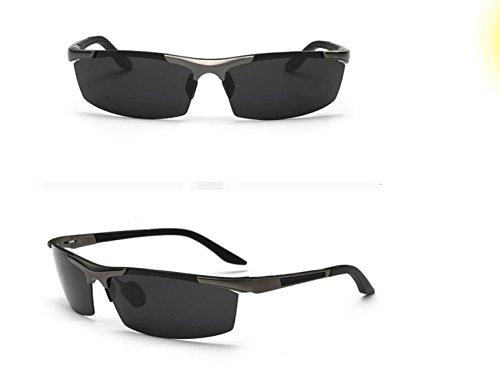 Magnesio Libre Deportivo Espejo Gafas Aire Sol Espejo Sol Guncolor Conducir Y Espejo Aluminio Black De Medias De Gafas De Polarizadas Hombres Gafas De Pesca Al A16TxqB0