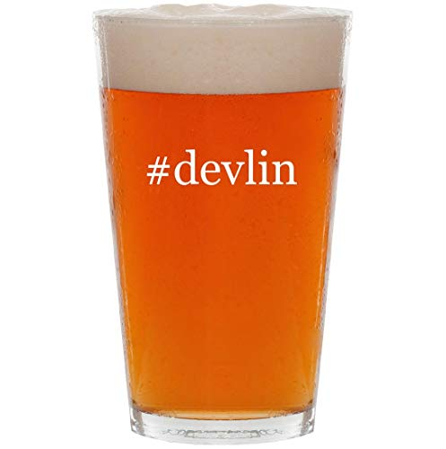 #devlin - 16oz Hashtag All Purpose Pint Beer Glass (Janet Devlin Cd)