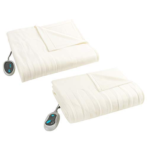 Beautyrest - Heated Fleece Blanket and Throw Combo Set - Ivo