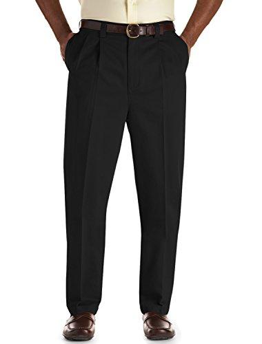 Mens Microfiber Double Pleat Pants - Oak Hill by DXL Pleated Premium Stretch Twills