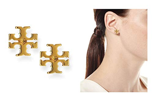 Tory Burch Small T Logo Stud Earrings ()