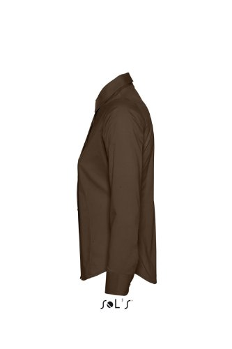 SOL´S - Ladies Long Sleeved Stretch Shirt Eden L,Dark Brown