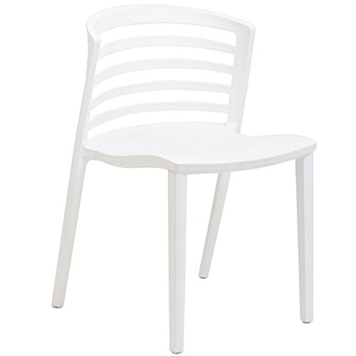 Modway Curvy Plastic Chair, White by Modway