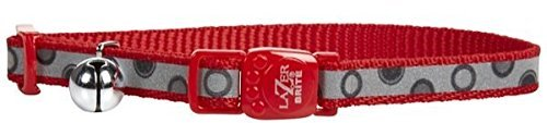 Lazer Brite Reflective Collar - Red Bubble - 3/8 x 8-12 inch