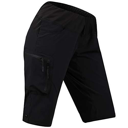 Cycorld Women's-Mountain-Bike-MTB-Short (Black, M(Waist:32.5