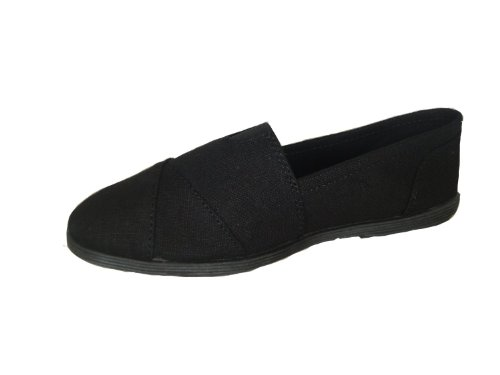 Soda Women Object Flats-Shoes Schwarz Schwarz