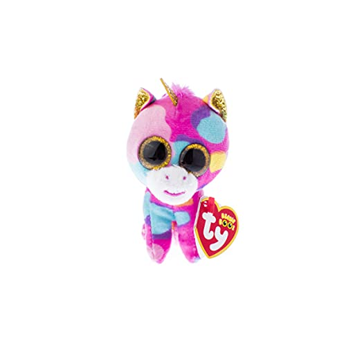 Ty Beanie Babies Fantasia   Multicolor Unicorn Clip