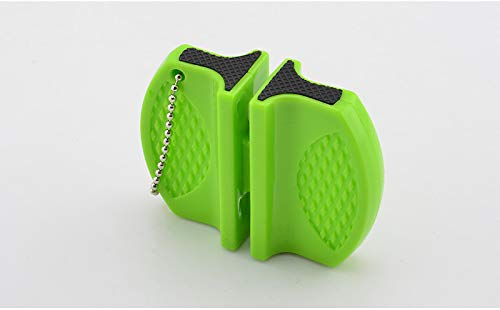 (Portable Mini Kitchen Tools Accessories Creative Butterfly Type Two-Stage Camping Pocket Knife Sharpener )