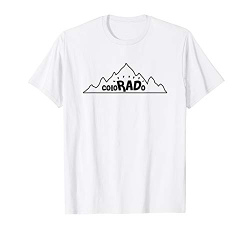 Colorado Cute Mountains For Hiking & Camping On Rocky Peaks T-Shirt (Best Dispersed Camping In Colorado)