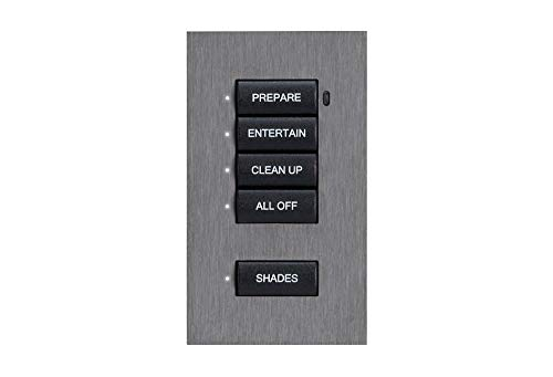 Crestron Ascent Solid Metal Faceplate for Cameo Keypad, Flush Mount, 3 Button, Anodized Brass
