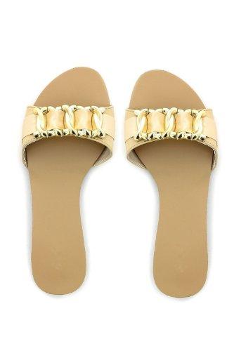 Go Tendance - Sandalias de vestir para mujer Beige - beige