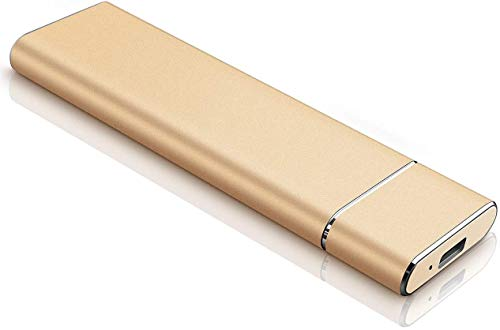 External Hard Drive 2TB, Portable Hard Drive External for PC, Laptop and Mac- (2tb, Gold)