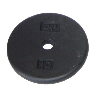 Black Regular Plate [Set of 2] Weight: 10 lbs by CAP Barbell