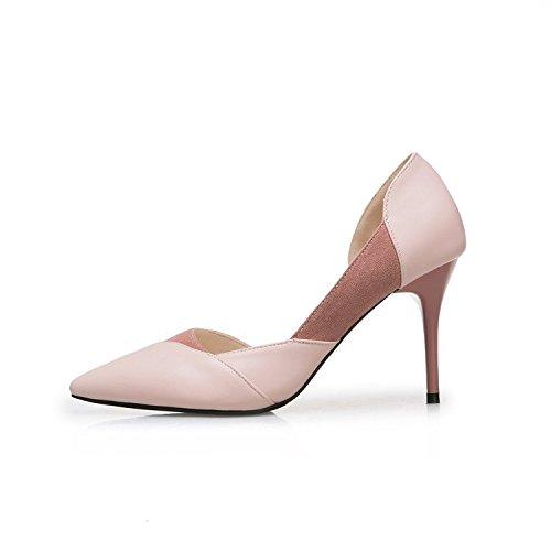 Printemps Pointe Hauts Pink Pales 42 t La Nus Sauvage Avec 5cm Et Fine Simples Bouche Talons 8 Les De En Chaussures Fte 5Pnpx6U