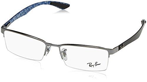 Ray-Ban Men's RX8412 Eyeglasses Gunmetal - 2502 Ban Ray