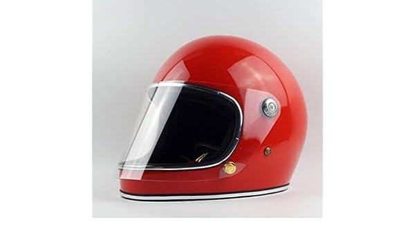 Amazon.es: FANHAOWEI - Casco de Moto Importado TT&CO - Casco de Moto Thompson japonés de Crucero Ghost Rider Retro TTD con Casco de Seguridad Lens XXL Bright Red