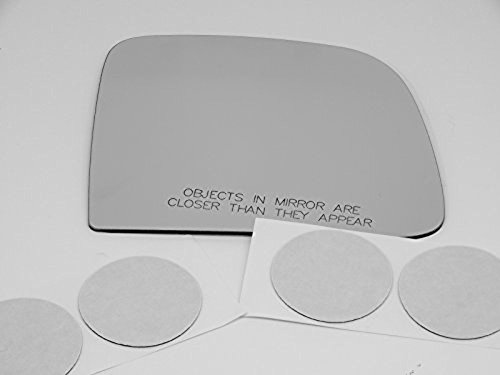 93-05 Ranger, 94-05 Mazda B2300, B2500, B3000, B4000 Right Passenger Manual Mirror Glass Lens w/Adhesive USA Models w/ non folding type