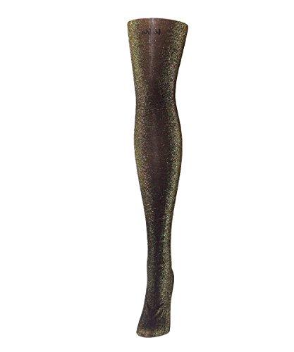 MeMoi Black Glitter Opaque (Plus Size Glitter Tights)