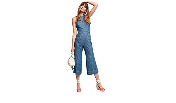 1b77d1c17ae Amazon.com  Pilcro and the Letterpress from Anthropologie Femme Denim  Jumpsuit