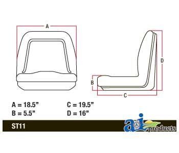 Buy replacement lawn tractor seats