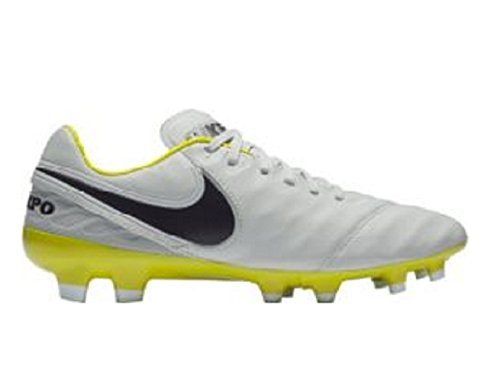 Nike Women's Tiempo Legacy II FG Pure Platinum/Purple Dynasty 6.5 by NIKE