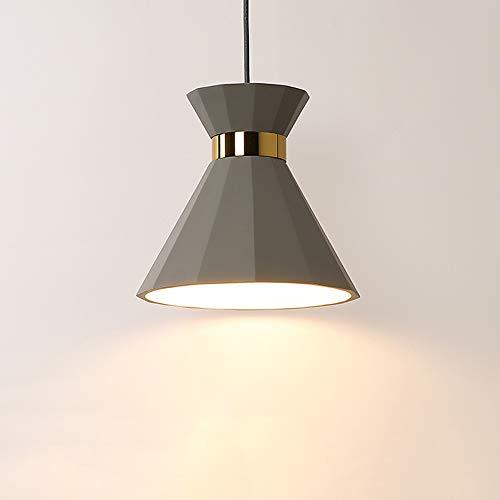 Wapipey Nordic Simple Cemento Creativo Acero de bajo Carbono Araña Comedor Escalera Cocina Droplight Personalidad...