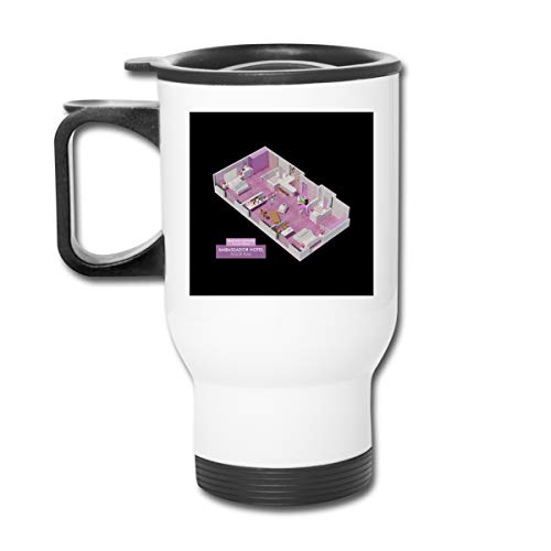 Fear And Loathing In Las Vegas Floor Plan 16 Oz Stainless Tumbler Double Wall Vacuum Coffee Mug With Splash Proof Lid For Hot & Cold Drinks