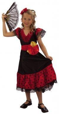 LUCIDA - Disfraz de sevillana para niña, talla 11-14 años: Amazon ...