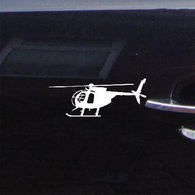 25 cm Hubschrauber MD 500 T Bell Vinyl Aufkleber Aufkleber Auto Auto Laptop Glas
