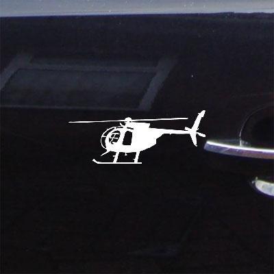 ART MD 500D HUGHES HELICOPTER VINYL AUTO DECAL STICKER DECOR DECORATION WHITE ADHESIVE VINYL BIKE CAR LAPTOP NOTEBOOK