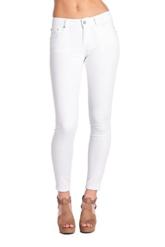 BLUE AGE Women's White Butt-Lifting Skinny Jeans