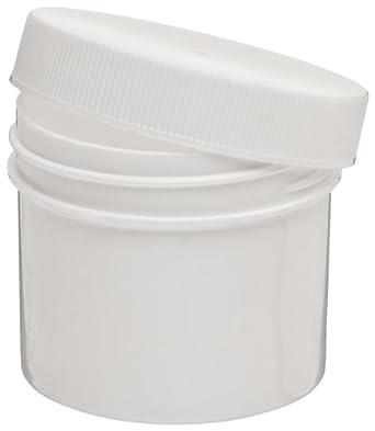 Dynalon 426325-0050 White Opaque Polypropylene Lab Specimen and Sample Storage Jar/Container, 1/2oz Capacity (Case of 144)