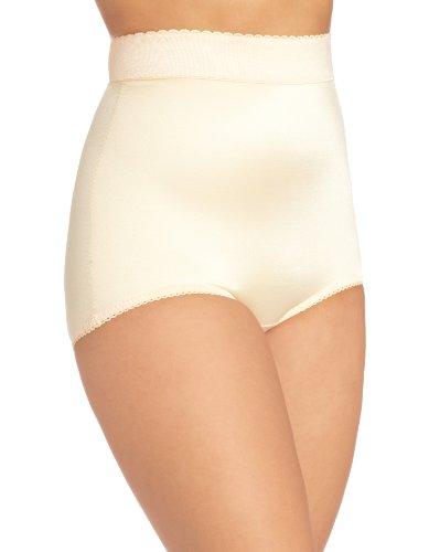 Rago Women's Hi Waist Panty Brief, Beige, Large (30)