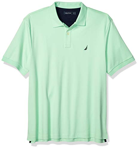 Nautica Men's Classic Fit Short Sleeve Solid Soft Cotton Polo Shirt, ash Green X-Large