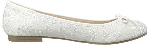 Jane Klain 221 807 - Zapatillas de ballet Mujer Blanco - White (White 109)