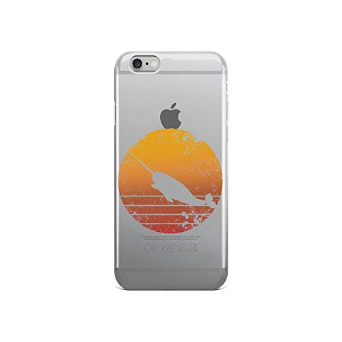 iPhone 6/6s Pure Clear Case Cases Cover Vintage Sunset Trendy Animal Silhouette Narwhal