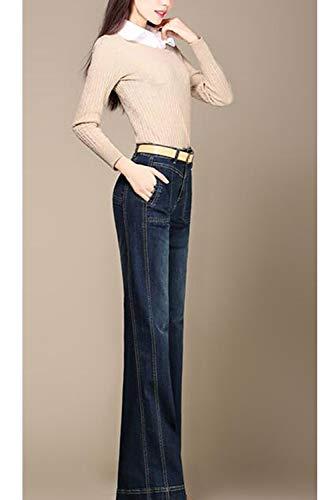 Haute Pantalon Taille Jeans Casual Cloche vase Bas Pantalon Femmes De B27 Denim BHqIUOwg