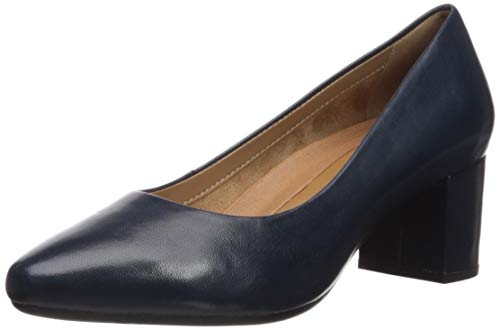 (Aerosoles Women's Silver Star Pump, Navy Leather, 9 M US)