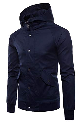Hooded Casual Gocgt 4 Windbreaker Coat Men Jacket Button Zip SWWgHBFq