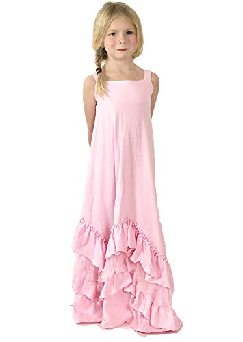ce02a4afa37d Jennifer and June Boho Beauty Tulle Ruffle Maxi Dress for Girls (Size 2T -  3T