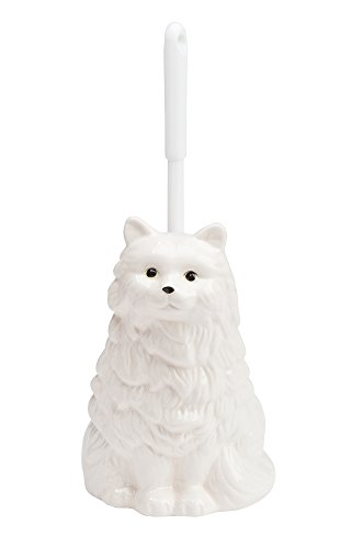 The Paragon Ceramic Cat Toilet Brush Holder - Whimsical Toilet Bowl Cleaner with Brush Included, Toilet Brush with - Toilet Ceramic Brush
