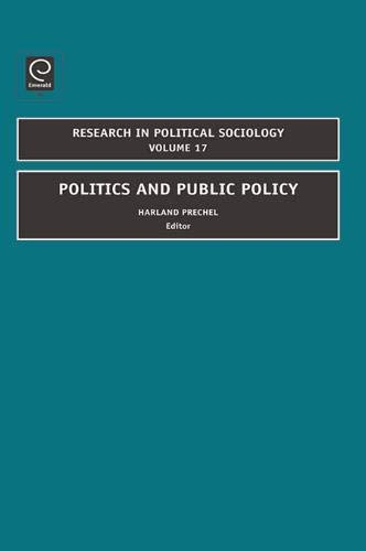 Download Politics and Public Policy (Research in Political Policy) pdf epub