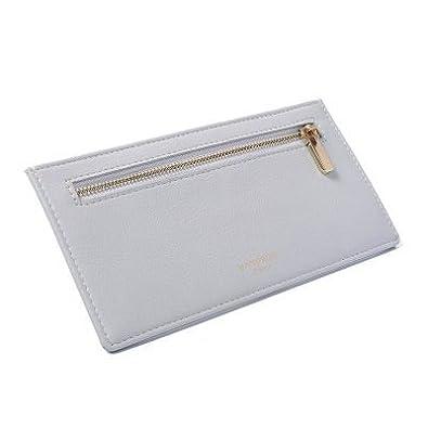 古典的な短いクリップ/財布/ウォレット/財布(四色:ブラックチョコレート濃い緑色原色)(綿のような無地