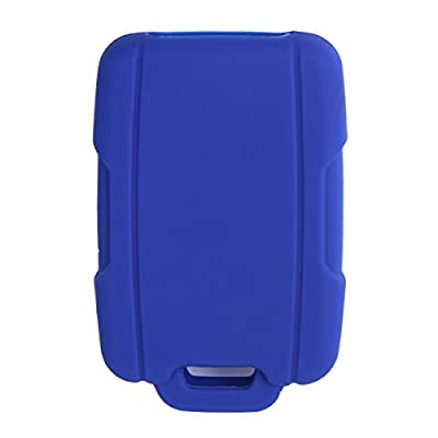 WERFDSR Sillicone key fob Skin key Cover Remote Case Protector Shell for 2015 2016 Chevrolet Suburban Tahoe GMC Yukon Smart Remote blue: Automotive