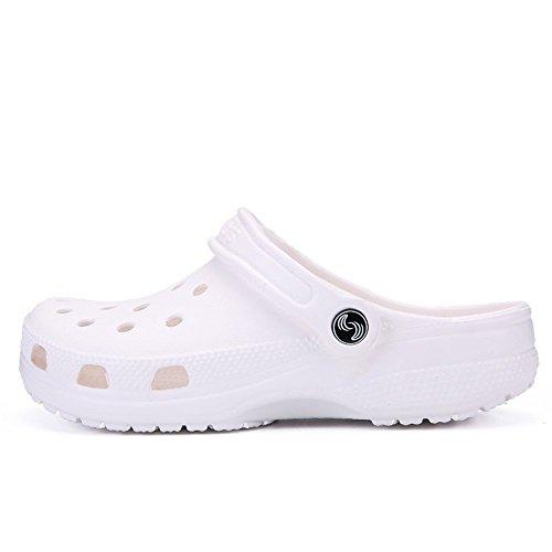 da 42 donna con 2018 impermeabili 46 e Dimensione Bianca da fondo taglia Vamp EU shoes cava Sandali Sandali Nero Xujw Uomo da uomo fino Color alla vfg7CxWfwc