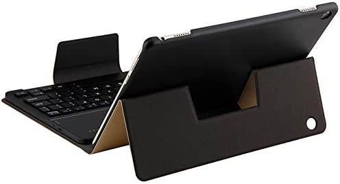 Lambskin Texture PU Leather Protective Cover Nobrand SHENGMASI HW2031 Detachable Plastic Bluetooth Keyboard Color : Gold