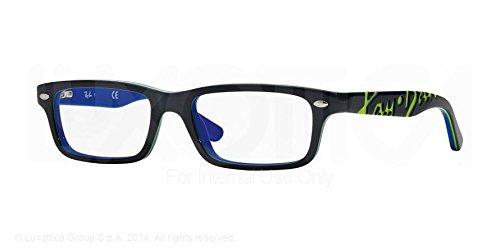 Ray Ban Junior RY1535 Eyeglasses-3600 Top Dark Gray On Blue-48mm