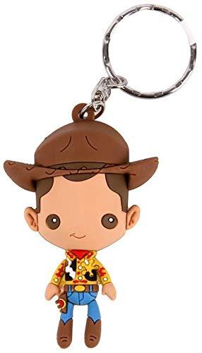 Llavero Disney Pixar Toy Story Woody Monogram Goma 7 cm ...